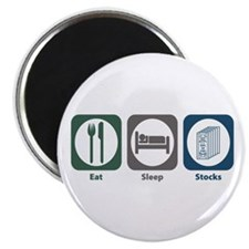 Eat Sleep Stocks Magnet