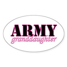 Army Granddaughter Oval Decal