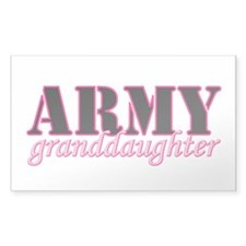 Army Granddaughter Rectangle Decal