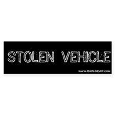 Stolen Vehicle Bumper Bumper Sticker