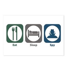 Eat Sleep Spy Postcards (Package of 8)