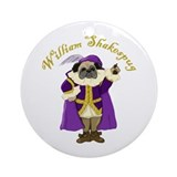 William Shakespug Ornament (Round)