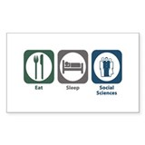 Eat Sleep Social Sciences Rectangle Decal