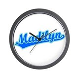 Retro Madilyn (Blue) Wall Clock