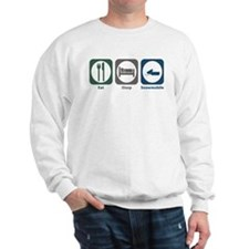 Eat Sleep Snowmobile Sweatshirt