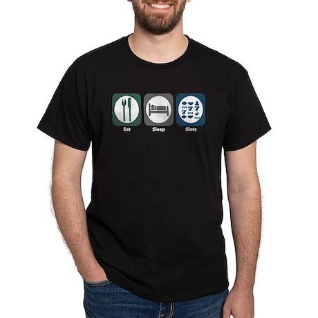 Eat Sleep Slots Dark T-Shirt