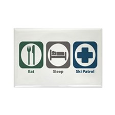 Eat Sleep Ski Patrol Rectangle Magnet (10 pack)