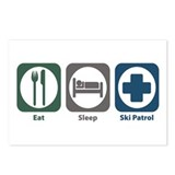 Eat Sleep Ski Patrol Postcards (Package of 8)