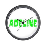 Adeline Faded (Green) Wall Clock