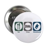 "Eat Sleep Skateboard 2.25"" Button"