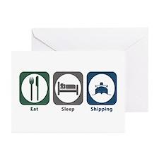 Eat Sleep Shipping Greeting Cards (Pk of 20)