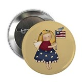"Patriotic Angel 2.25"" Button (100 pack)"