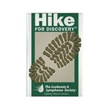 Hike for Discovery Rectangle Magnet