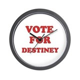 Vote for DESTINEY Wall Clock
