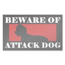 Beware of Attack Dog Irish Water Spaniel Decal