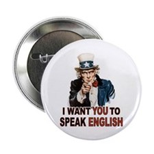 "English: SPEAK ENGLISH 2.25"" Button (10 pack)"