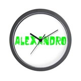 Alexandro Faded (Green) Wall Clock