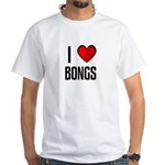 I LOVE BONGS White T-Shirt