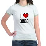 I LOVE BONGS Jr. Ringer T-Shirt