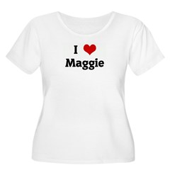 I Love Maggie Women's Plus Size Scoop Neck T-Shirt