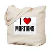 I LOVE MARTIANS Tote Bag