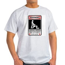 Warning Ash Grey T-Shirt