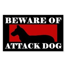 Beware of Attack Dog Chinook Decal