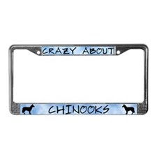 Crazy About Chinooks License Plate Frame