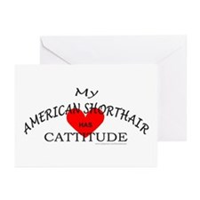AMERICAN SHORTHAIR Greeting Cards (Pk of 10)