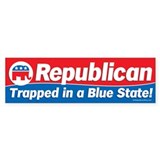 Republican trapped in a blue state bumper sticker