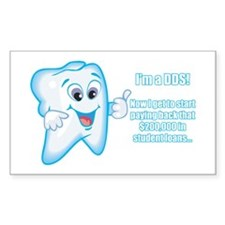 Funny DDS Grad Rectangle Sticker 10 pk)
