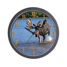 Maine Moose Wall Clock