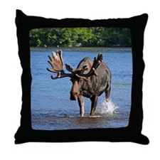 Maine Moose Throw Pillow