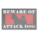Beware of Attack Dog Portuguese Water Dog Decal