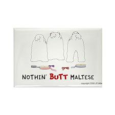 Nothin' Butt Maltese Rectangle Magnet