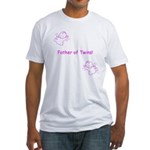 Father of Twins - Pink Fitted T-Shirt