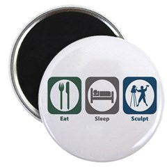"Eat Sleep Sculpt 2.25"" Magnet (100 pack)"