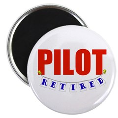 "Retired Pilot 2.25"" Magnet (10 pack)"