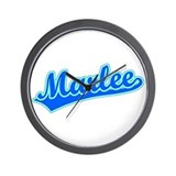 Retro Marlee (Blue) Wall Clock