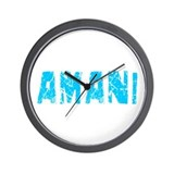 Amani Faded (Blue) Wall Clock