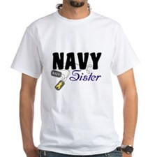 Navy Sister Tags Shirt