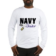 Navy Sister Tags Long Sleeve T-Shirt