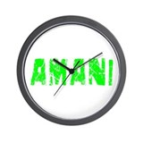 Amani Faded (Green) Wall Clock