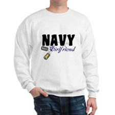 Navy Girlfriend Tags Sweatshirt