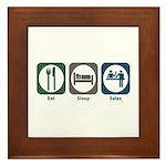 Eat Sleep Sales Framed Tile