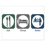Eat Sleep Sales Small Poster