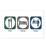 Eat Sleep Sales Postcards (Package of 8)