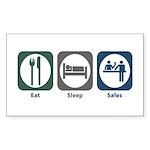 Eat Sleep Sales Rectangle Sticker 50 pk)