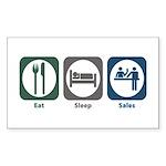 Eat Sleep Sales Rectangle Sticker
