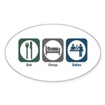 Eat Sleep Sales Oval Sticker (10 pk)